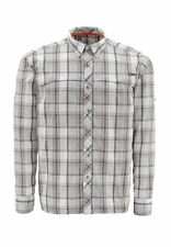 Simms STONE COLD Long Sleeve Shirt ~ Moonstone Plaid NEW ~ Closeout Size XL