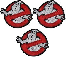 "Ghostbusters 2 3/4"" Wide Embroidered Set of 3 Patches YOU GET 3 PATCHES!!!!"