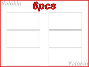 6pcs White Color Scarves Family Pack Elastic Print Gaiter Bandana Balaclava N15
