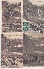 Lot 4 cartes postales anciennes GAVARNIE arrivée au cirque
