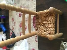 Minature Wicker Wooden Chair Doll Size Dollshouse 10 X4.5X3.5 inches