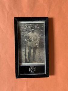 Originales Foto,Soldat,Rahmen,EK,1.W.K.