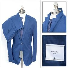 $1,795 NWT BOGLIOLI Vintage Blue Unconstructed Washed Cotton Suit 56 6R 44 R