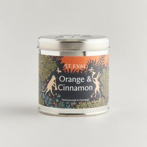 St Eval Candle Company Scented Tin Candle Christmas Orange and Cinnamon