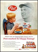 1956 Bill Dickey photo New York Yankees Post Cereal vintage Print Ad   adl30