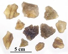 Libyan desert glass, lot of excellent DARK pieces, 122 grams