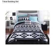 New Tribal Bedding Queen Size Comforter Set White Black Bedspread Sheets Shams