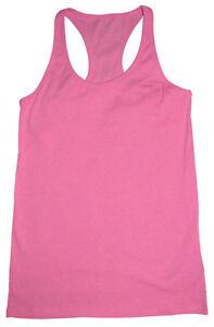 Love by Gap Factory NWT Pink Built In Shelf Bra Ribbed Racerback Tank Top $17