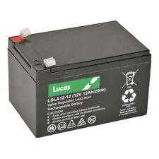 2 X Lucas 12ah Mobility Scooter Batteries- VAT Listing