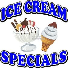 Ice Cream Specials DECAL (Choose Your Size) Concession Food Truck Sticker