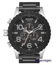 Genuine New Nixon Watch  51-30 Chrono A083-2541 Black/Gunmetal Tone A0832541