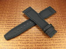 New 21mm Black Leather Strap TOILE Fabric Watch Band IWC PILOT Portuguese II