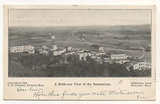 Birdseye View of RUTLAND MA Sanatorium Vintage 1904/6 Massachusetts Postcard