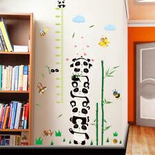 Panda Bamboo Growth Chart Height Measure DIY Mural Wall Stickers Fashion Novelty