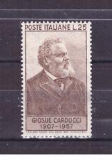 FRANCOBOLLI Italia Repubblica 1957 Giosuè Carducci 25 Lire MNH** SAS819