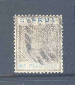 BRITISH COMMONWEALTH CYPRUS 1881 45 PIASTRES SG49 FINE USED..............8