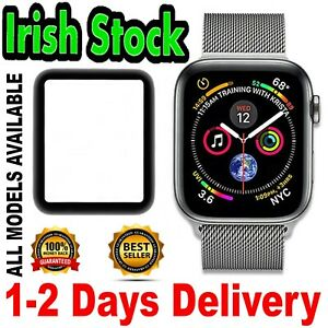 Apple Watch Series 4 5 6✅GENUINE GLASS Screen Protector FULL GLUE Cover 44 40 mm