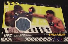 BRIAN STANN 2010 Topps UFC Fighter MAT RELIC Octagon MAT Used RELIC Card SP MMA