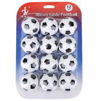 Set 12 Palline Calcio Balilla Biliardino Palla 36mm Ball Table Football Soccer
