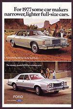 1977 Original Vintage Ford LTD & LTD II Car - 2-Page Photo vintage print ad