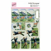 Anita's Foiled Decoupage - Highland Golf for cards and crafts