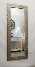 John Lewis Full Length Wall Mirror Mosaic Champagne Antique Silver 132x46cm New