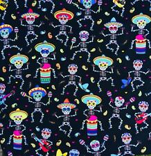 Day of the Dead Bandana Head band scarf Biker Gothic skeleton musical feeanddave