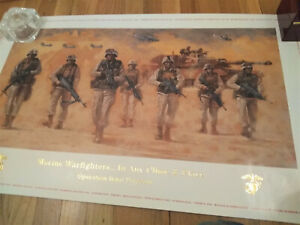 Marine Corps Poster Warfighters in Any Clime & Place Operation Iraqi Freedom