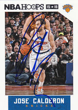 JOSE CALDERON NEW YORK KNICKS SIGNED CARD CAVALIERS RAPTORS MAVERICKS PISTONS