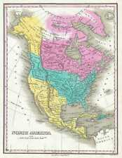 1828 Finley Map of North America