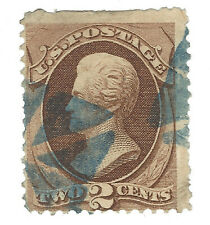 BLUE CORK FANCY CANCEL ON 1870 US STAMP #146