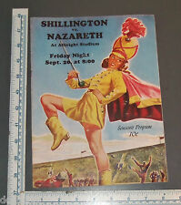 NAZARETH HIGH SCHOOL VS SHILLINGTON FOOTBALL PROGRAM 1948 COKE AD PENNSYLVANIA