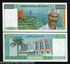 DJIBOUTI 10000 10,000 FRANCS P41 1999 FISH CORAL UNC AFRICA CURRENCY MONEY NOTE