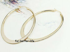 18K Rose Gold Gp Fashion Hoop Round Party Earrings With Free Shipping AC281