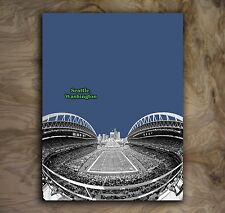 Seattle Seahawks Sports Poster NFL Art Print Rare Hot New 12x16""