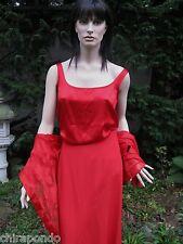 Abendkleid Escada Gr. 38 Rot Rock Top Bluse Seide Couture 3 Teile ein Preis !