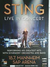 STING   2010   MANNHEIM  SAP ARENA   orig.Concert Poster  --  Konzert Plakat  A1