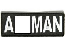 A-WORD MAN EMBROIDERED IRON ON BIKER PATCH