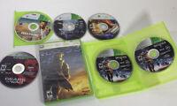 XBOX 360 Lot of 6 Games Max Payne Halo 3 & 4 Perfect Dark Zero Gears Of War