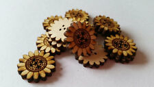Wooden Sunflower Buttons ( Sewing, Decoupage, Collages, Card Making )