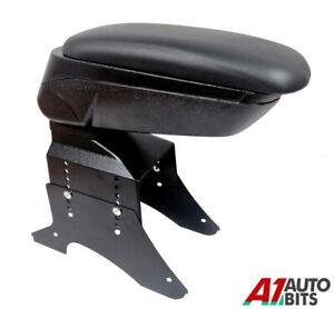For Vauxhall Opel Astra H 2005 Black Eco Leather Padded Armrest Center