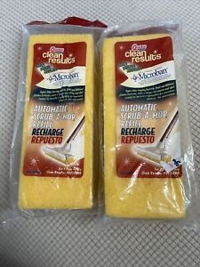 2 New Quickie Clean Results Refill Microban Roller Sponge Mop model #041CRMB