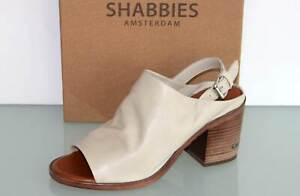 SHABBIES AMSTERDAM Leder Sandalette Slingpumps - Made in Spain - Neu! Gr. 39