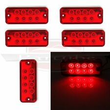 5) Red Hight Bright Side Marker Indicator Light Truck Trailer Bus Clearance Lamp
