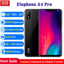 Elephone A4 Pro Black 4GB+64GB Android 8.1 Octa Core 16MP Unlocked 4G Smartphone