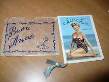 CALENDARIETTO DA BARBIERE 1955 STELLE MARINE ATTRICI CINEMA RITA HAYWORT RUSSELL
