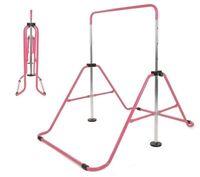 Adjustable Gym Horizontal Bar Kids Gymnastics Training Kip Bars Home Play
