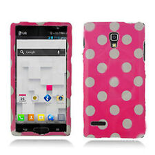T-Mobile LG Optimus L9 HARD Protector Case Snap Phone Cover Hot Pink Polka Dots