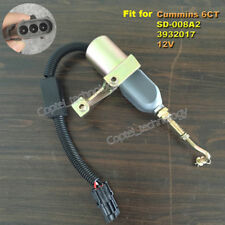 Fuel Shutdown Shutoff Stop Solenoid Valve SD-008A2 12V for Cummins 6CT Engine