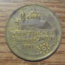 1961 Pawtucket Diamond Jubilee Good For 50¢ In Trade Medal